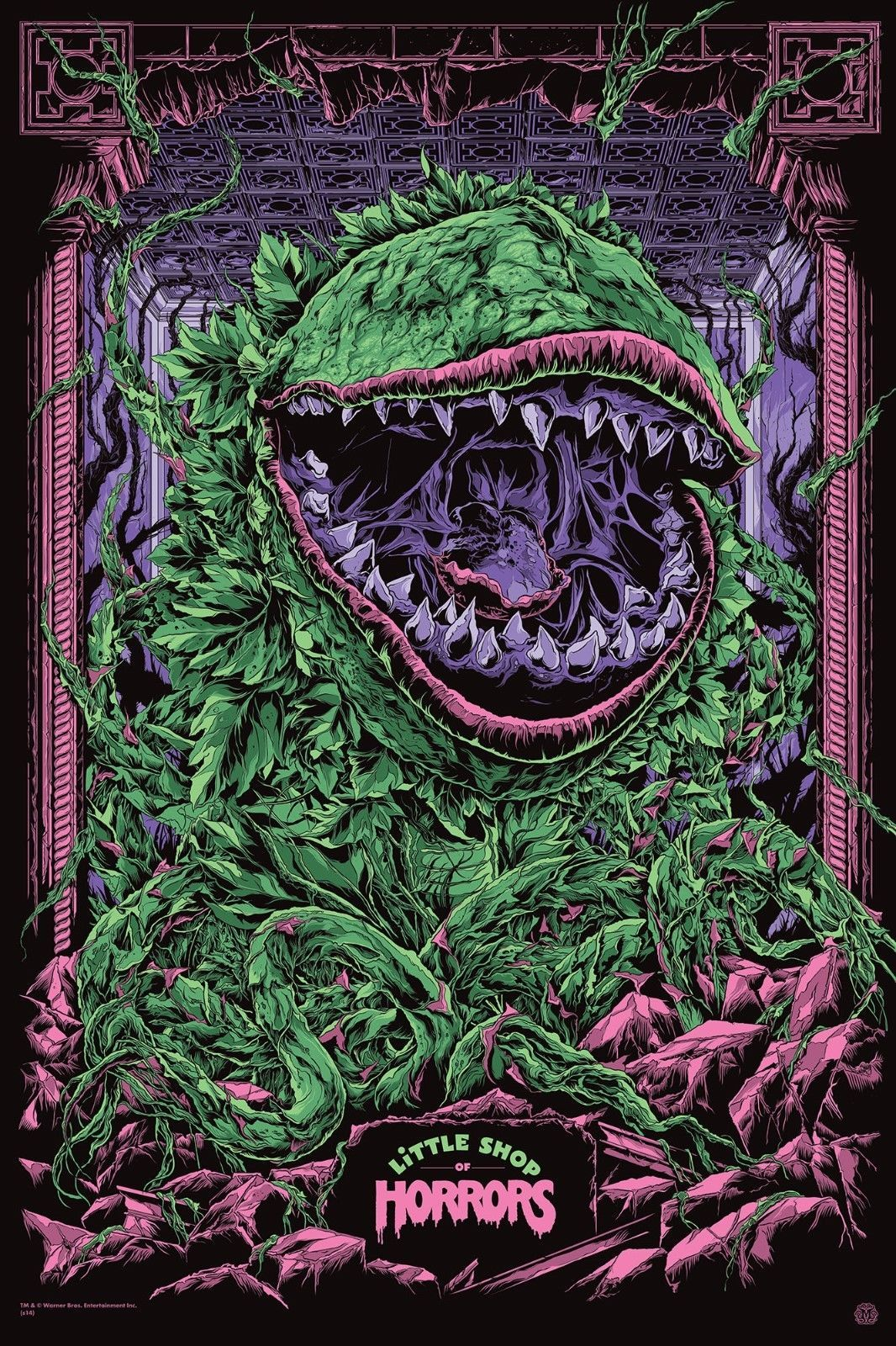 Little Shop Of Horrors Custom Artwork Shirt W Options Full Front Of Shirt Tienda De Los Horrores Carteles De Películas Famosas Horror Movie Posters