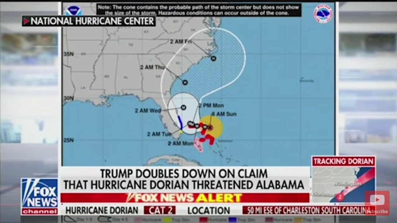 Actual Track At Time Of Tweet National Hurricane Center Trump Supporters No Time For Me