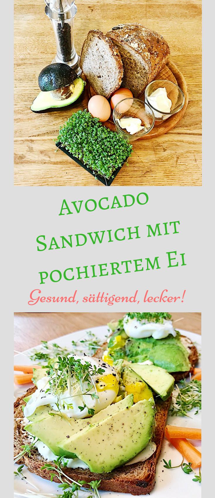 Avocado Sandwich Mit Pochiertem Ei Und Gartenkresse Hip Hip Mama