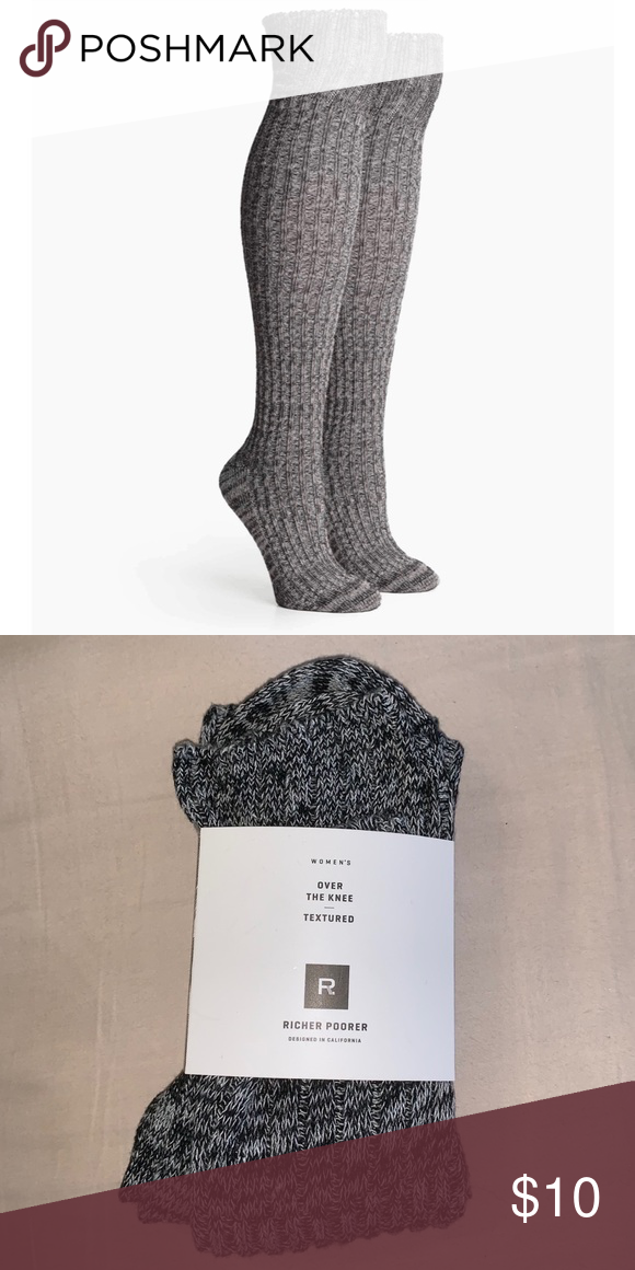efabf04dc NWT Richer Poorer over the knee textured socks NWat Richer Poorer Over The  Knee textured socks Sizing chart  US 5-10 richer poorer Accessories Hosiery    ...