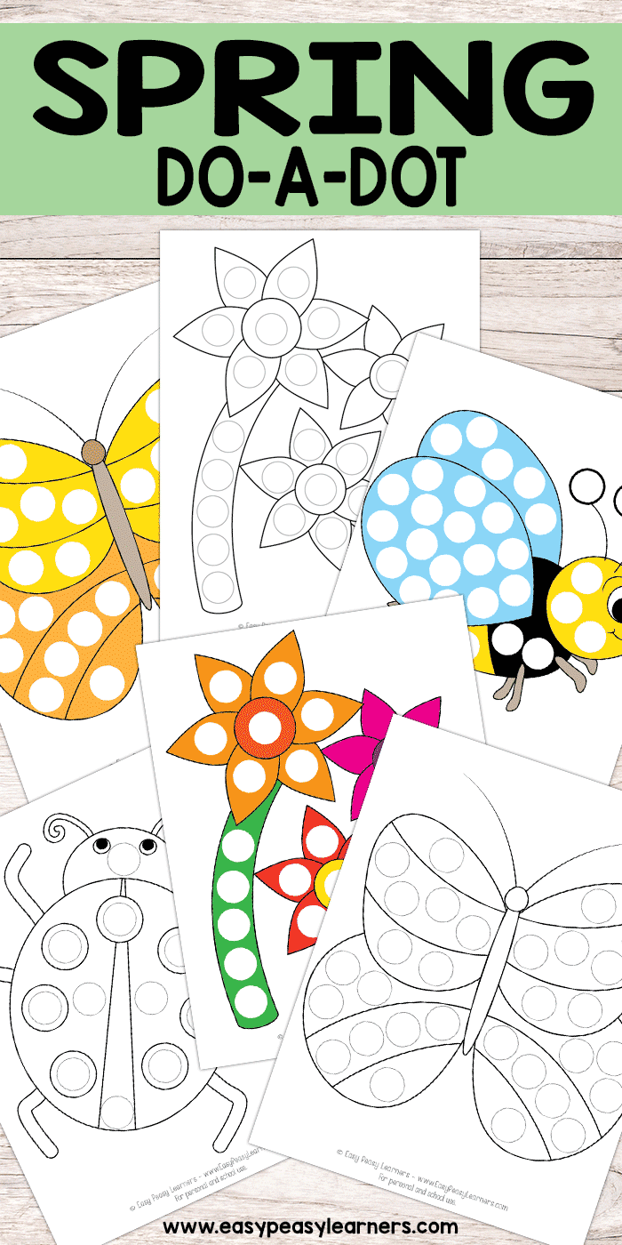 Free Printable Spring Do A Dot Pages Do A Dot Spring Preschool Dot Markers [ 1400 x 700 Pixel ]