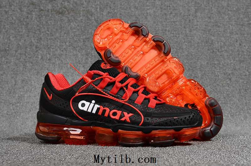 Nike Air Max 95 Vapormax 2018 KPU Black Red Men Shoes. Find this Pin and ... be53eb384