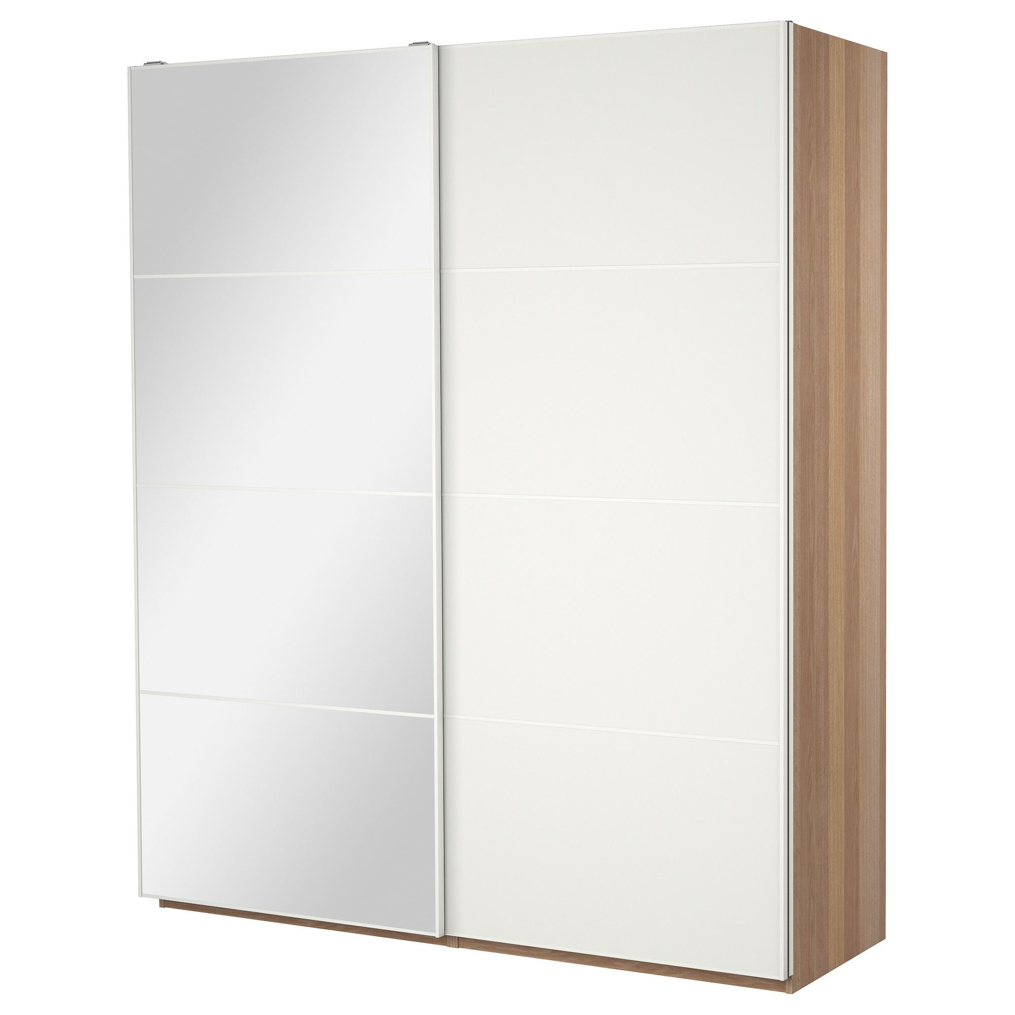 Pax Mehamn Pax Wardrobe With Sliding Doors White Stained Oak Effect Auli
