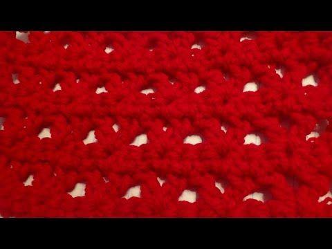 Puntada a crochet muy sencilla y fácil, ideal para tapetes o ...