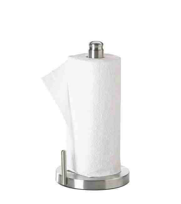 Paper Towel Holder Vertical For Kitchen Stand Up Upright Stainless