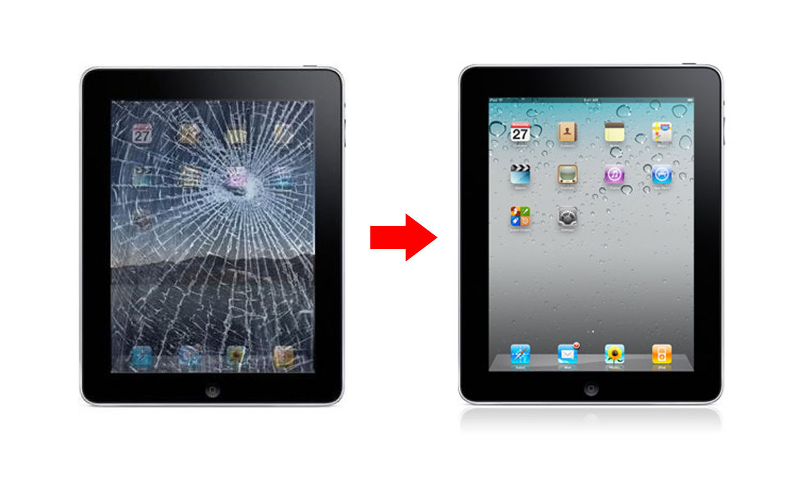 Accidents happen. Sometimes an iPad screen can get cracked