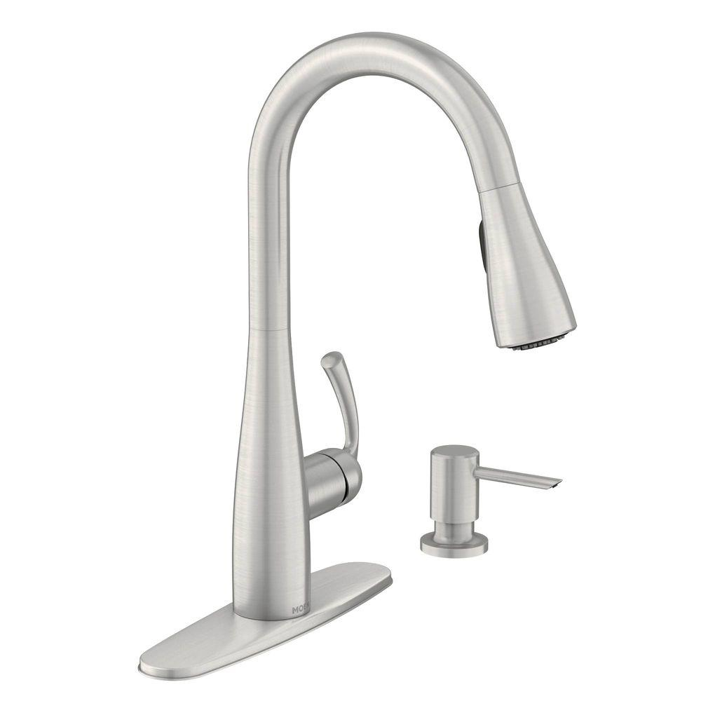 Moen Essie Single Handle Pull Down Sprayer Kitchen Faucet With