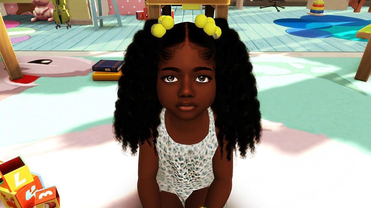 Hbcu Black Girl Toddler Hair Sims 4 Sims Hair Sims 4 Black Hair
