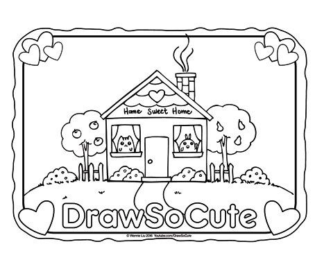 Hi Draw So Cute Fans Get Your Free Coloring Pages Of My Draw So Cute Characters Here Click On The Image To S Cute Drawings Coloring Pages Cute Coloring Pages