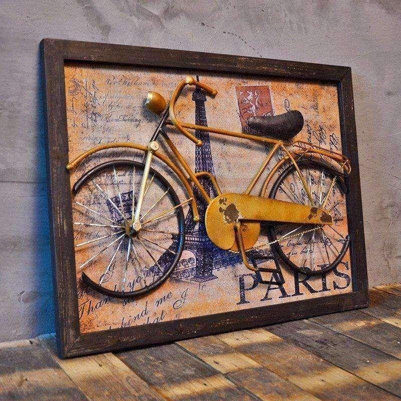 Buy art deco 3d abstract vintage retro bike iron mural