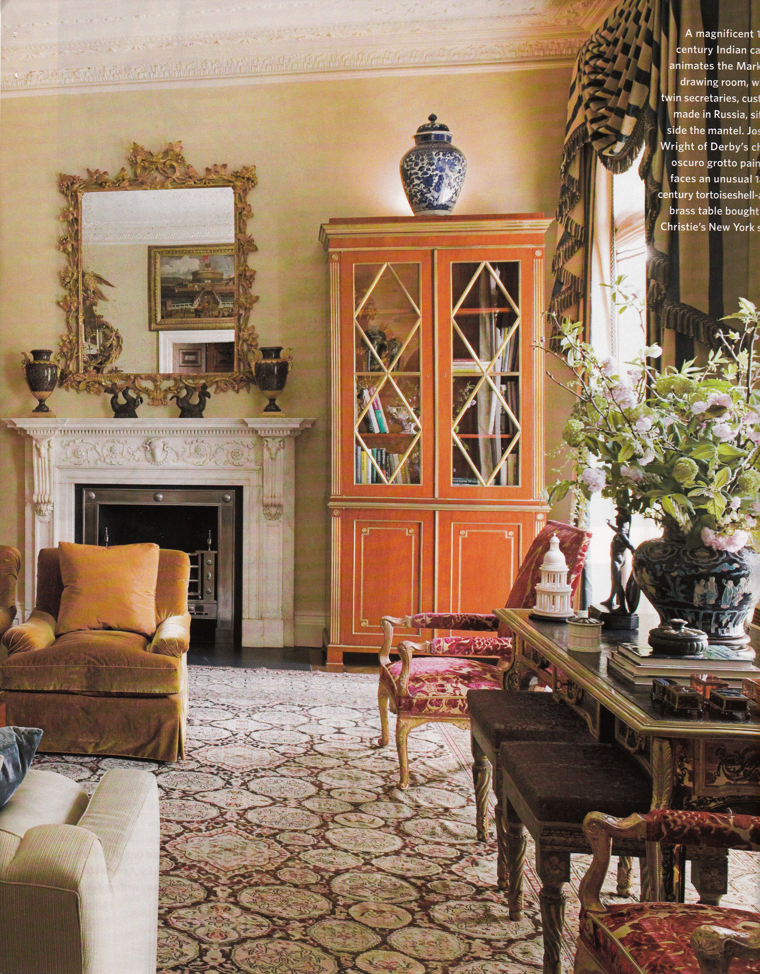 Square Room Interior Design: Michael S. Smith Decorates A London Flat For A Los Angeles