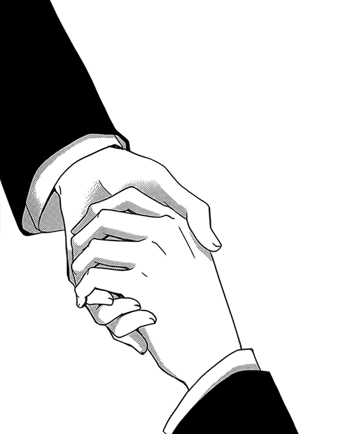 Anime Characters Holding Hands : Holding hands reference pose drawing inspiration