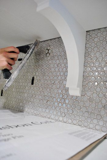 Patching Drilled And Broken Tile Reducing Shelf Brackets Penny