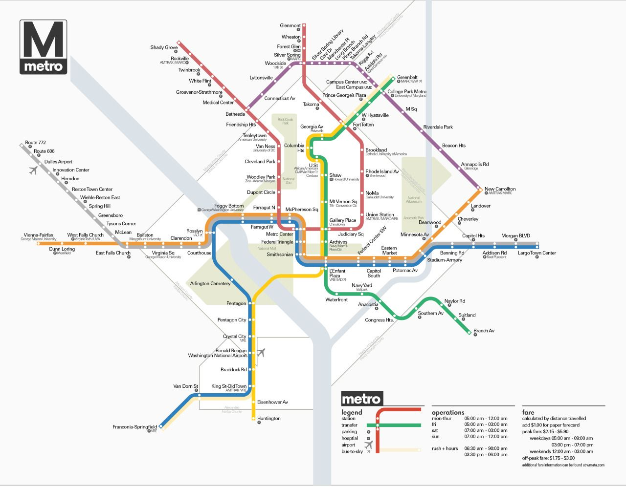 Washington Dc Subway Map Silver Line.Submission Unofficial Future Map Washington Dc Metro By James