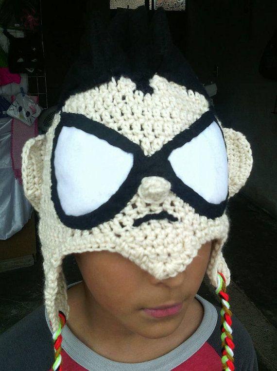 Teen Titans Inspired Hat Set-Crochet for kids-Crochet Character Hats ...