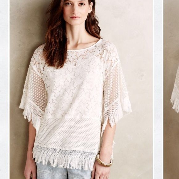 Anthropologie Canuma Poncho By Hazel. Size small regular. Worn once and hand washed. Anthropologie Tops