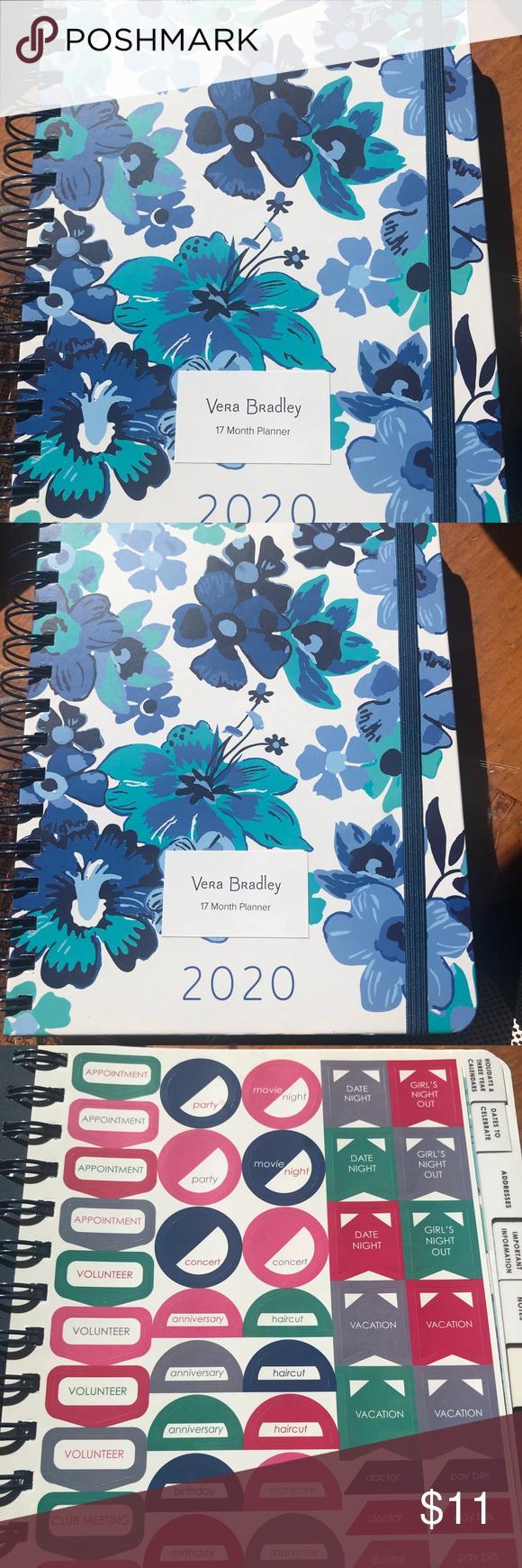 New Vera Bradley medium size planner 20192020🦋 Vera