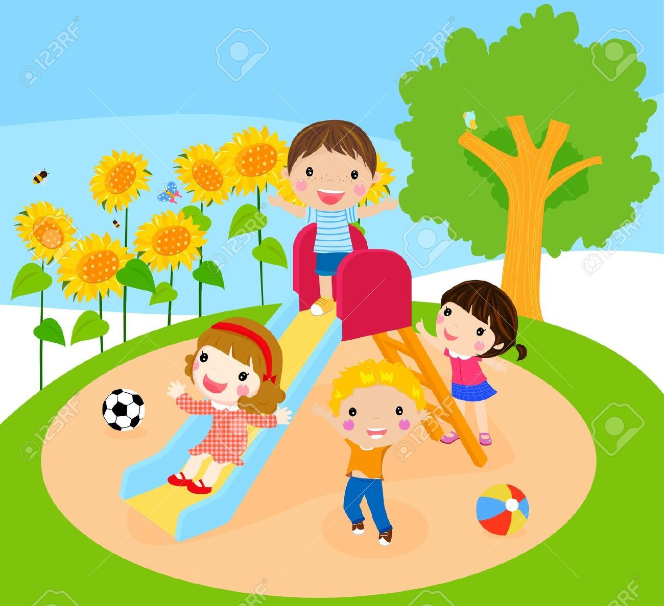 cute children playing illustrations - google search | picture