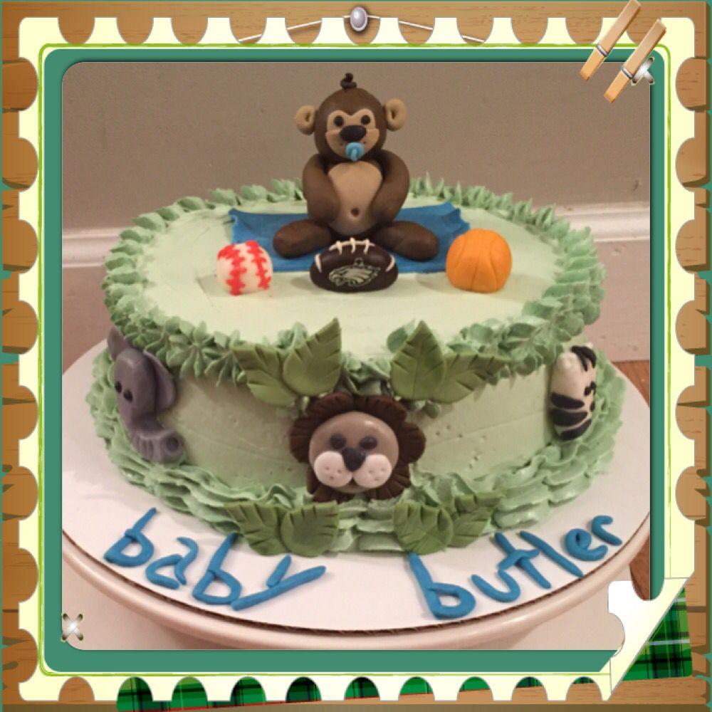 Jungle monkey cake. By Jaxi