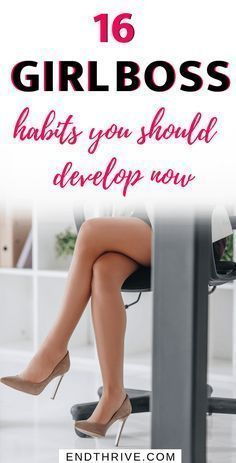 Are you a girl boss, lady boss, or boss babe? Here are 16 #girlboss habits to develop as a means of self improvement and self development. Steal these boss lady habits of a classy woman. #bosslady #girlboss #bossbabe
