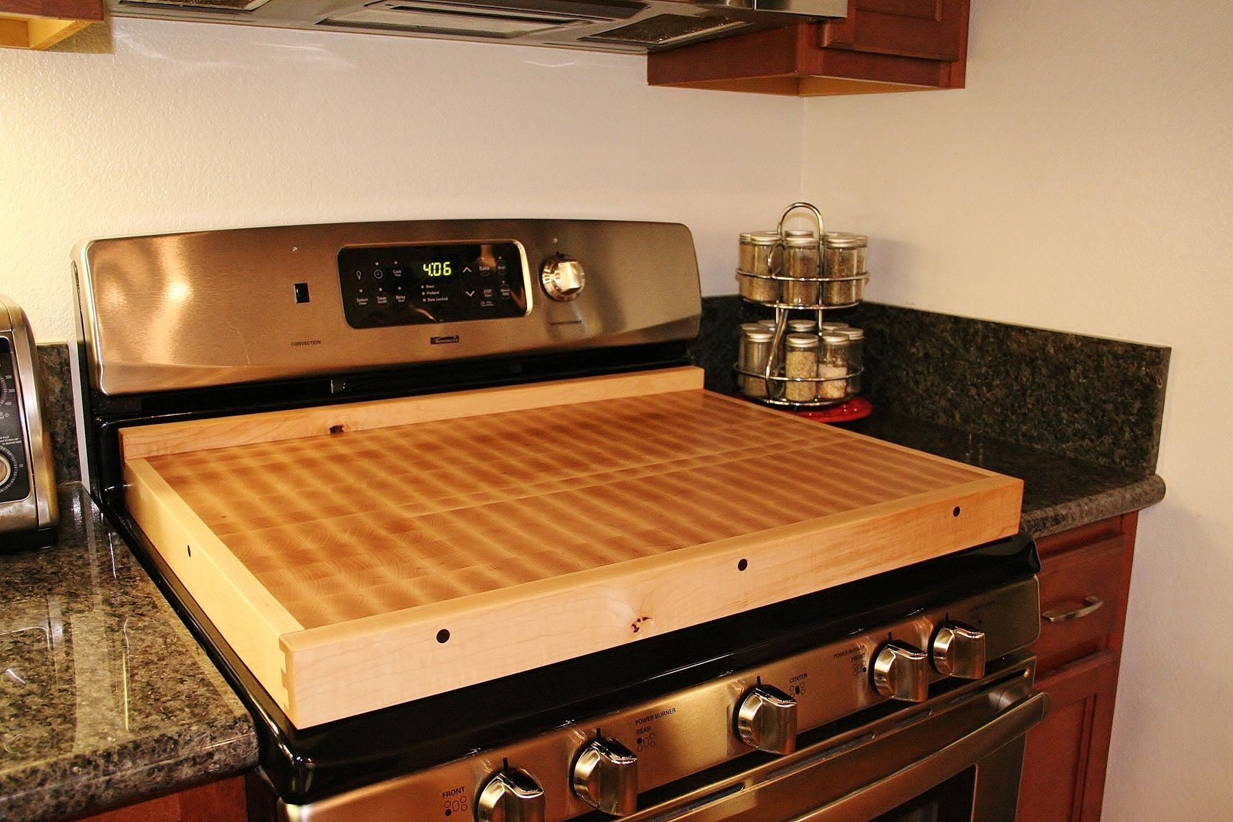 Cover The Stovetop Eyes Butcher Block Countertops Countertops Stove Cover