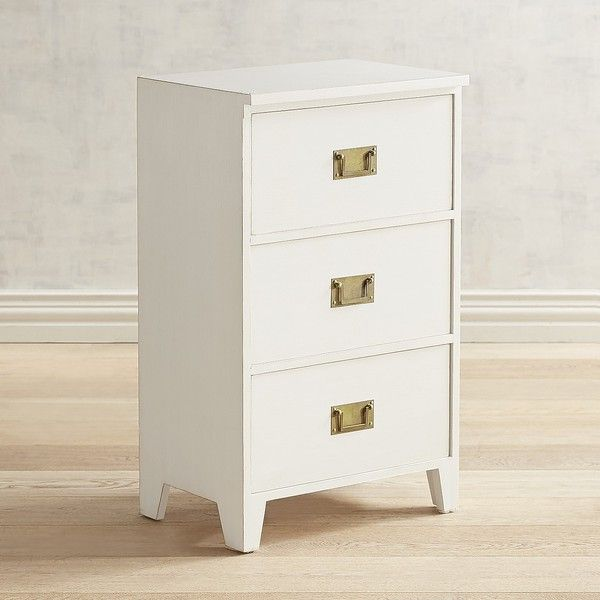 Pier 1 Imports Bradford 3 Drawer Chest 200 Liked On Polyvore