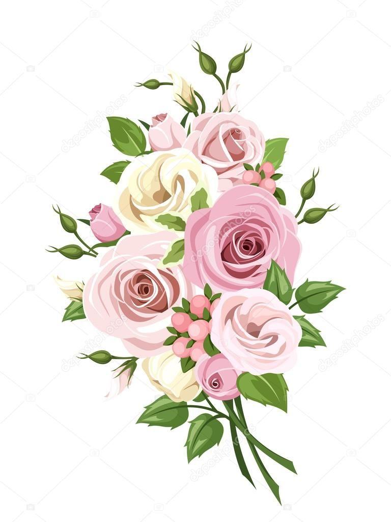 Ramo De Flores Imgenes De Archivo Vectores Ramo De Ramo Lisianthus Flowers Floral Artwork Flowers