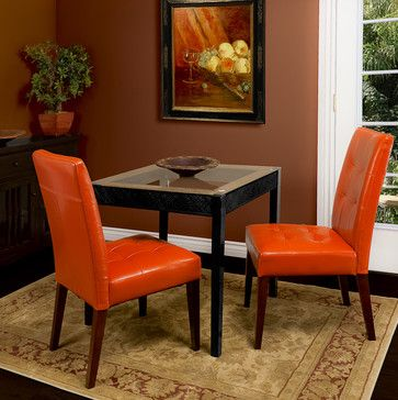 Burnt Orange Dining Room Chairs Leather Chair Set Of 2 Modern