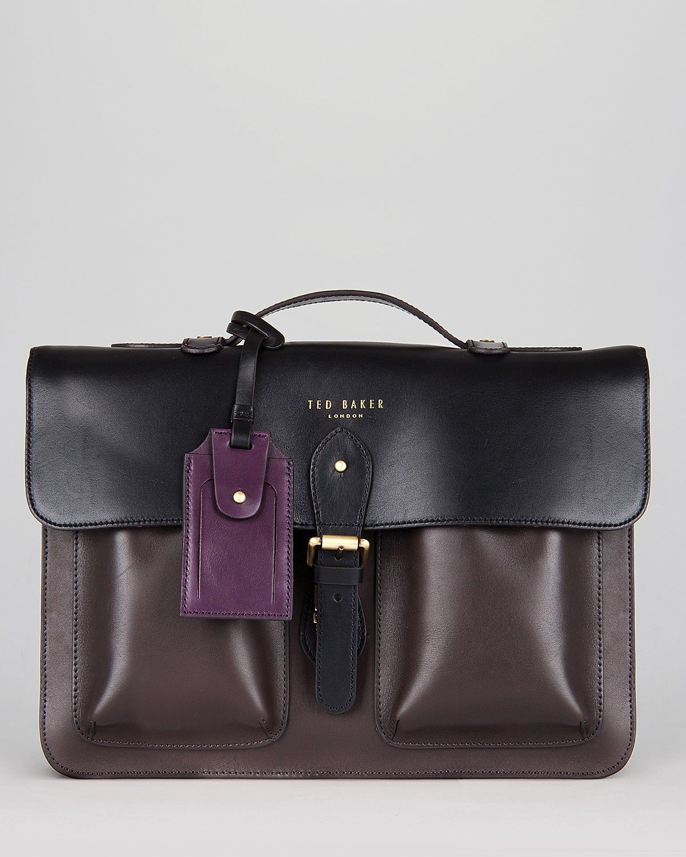 6e353559bdbd97 Ted Baker Harlemm Mixed Leather Satchel