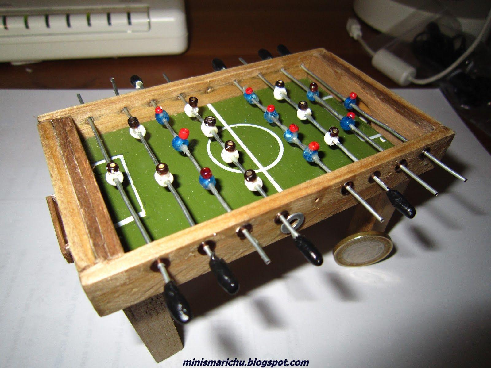 COMO HACER UN FUTBOLÍN Las medidas del futbolín son: 6,5 cm del alto ...