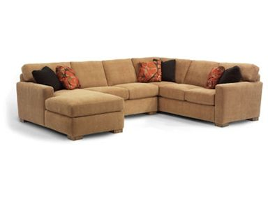 Shop For The Flexsteel Bryant Sectional Sofa At Furniture U0026 Mattress   Your  Madison, WI Furniture U0026 Mattress Store