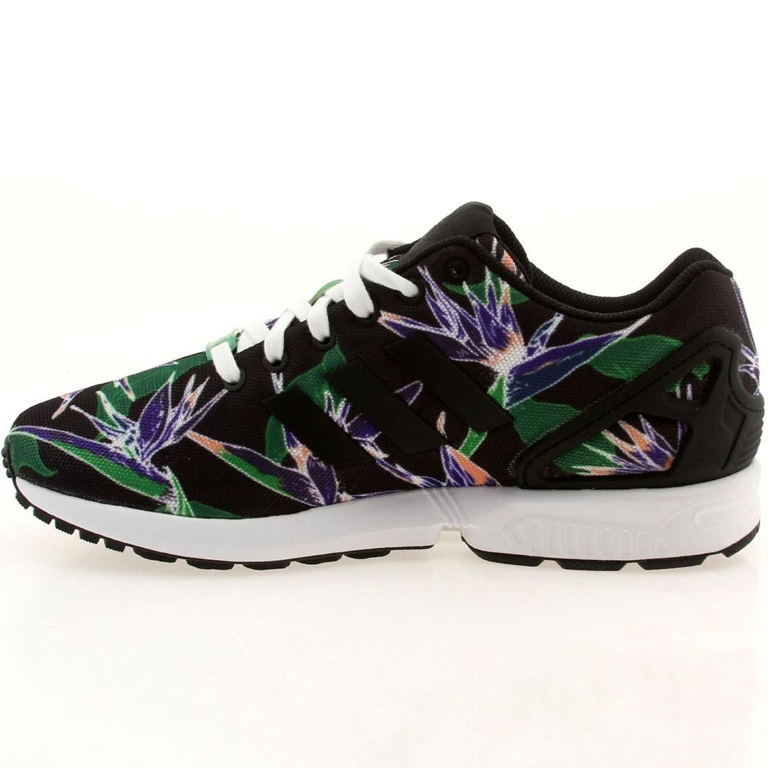 Adidas Originals ZX Flux B34518 Mens shoes FLORAL Core Black