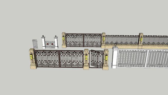 Fence, iron gate