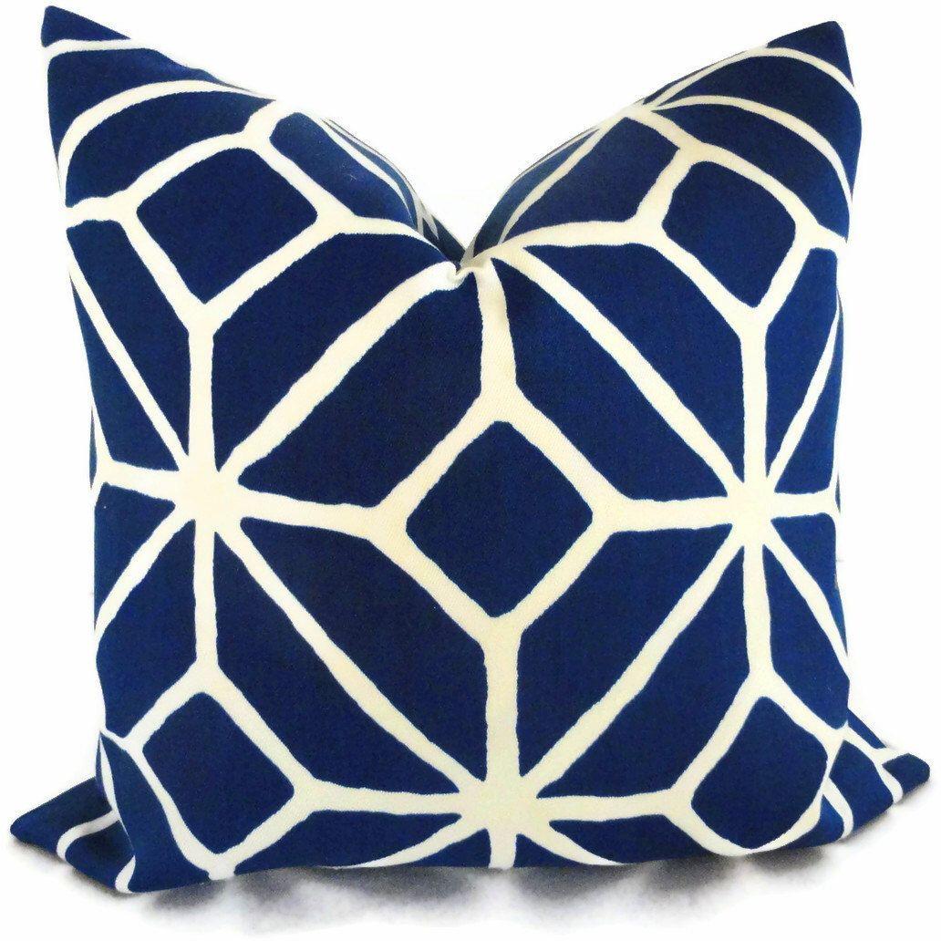 Trina Turk Marine Blue Trellis Indoor Outdoor Pillow Cover, Schumacher, 18x18, 20x20, 22x22 or 14x20 by PopOColor on Etsy https://www.etsy.com/listing/121575602/trina-turk-marine-blue-trellis-indoor