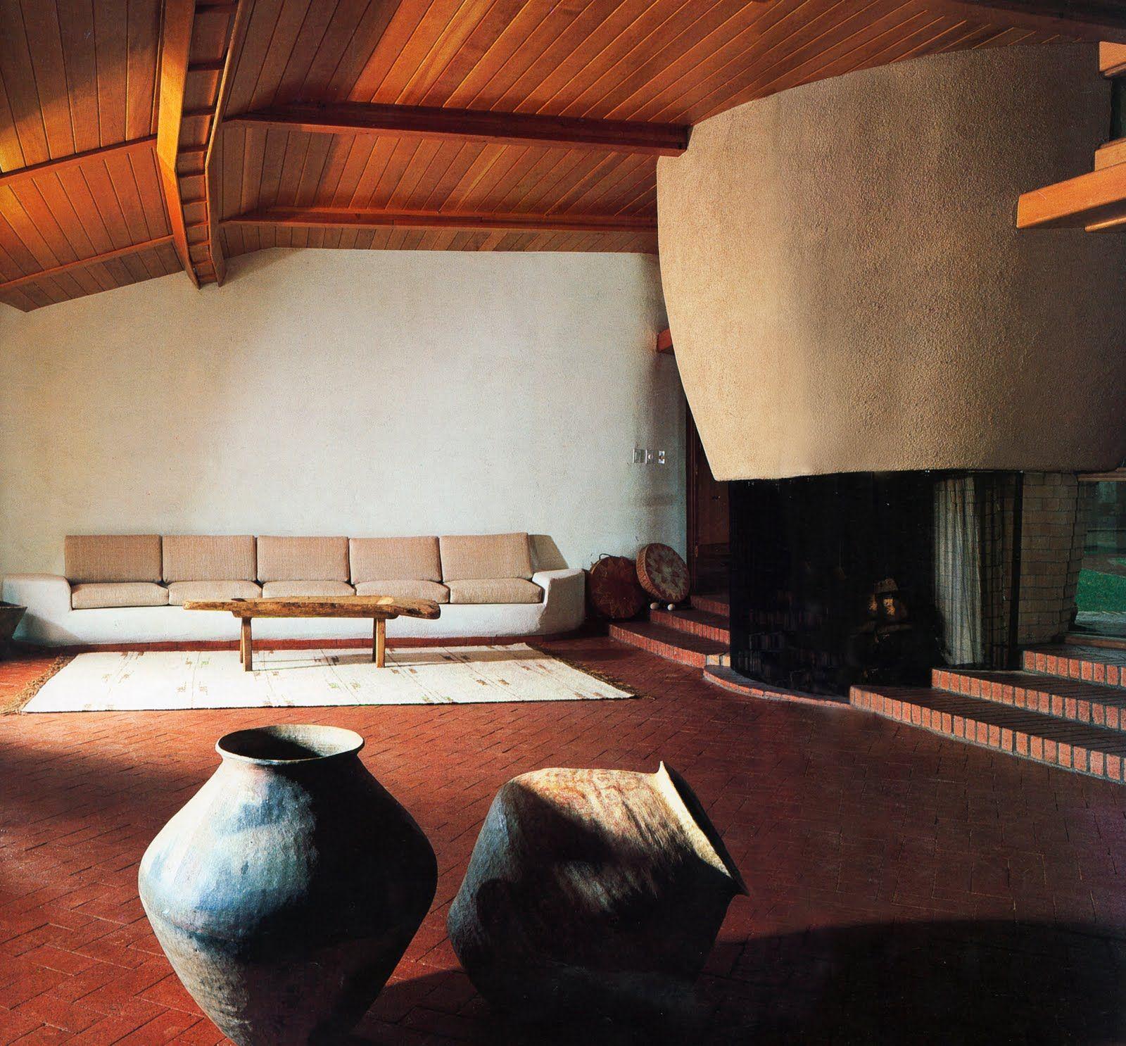 Frank Lloyd Wright Pottery House Living Room