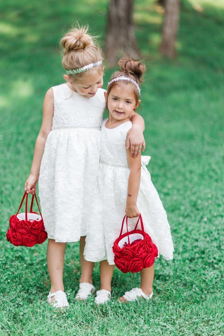 Tulle Flower Girl Baskets