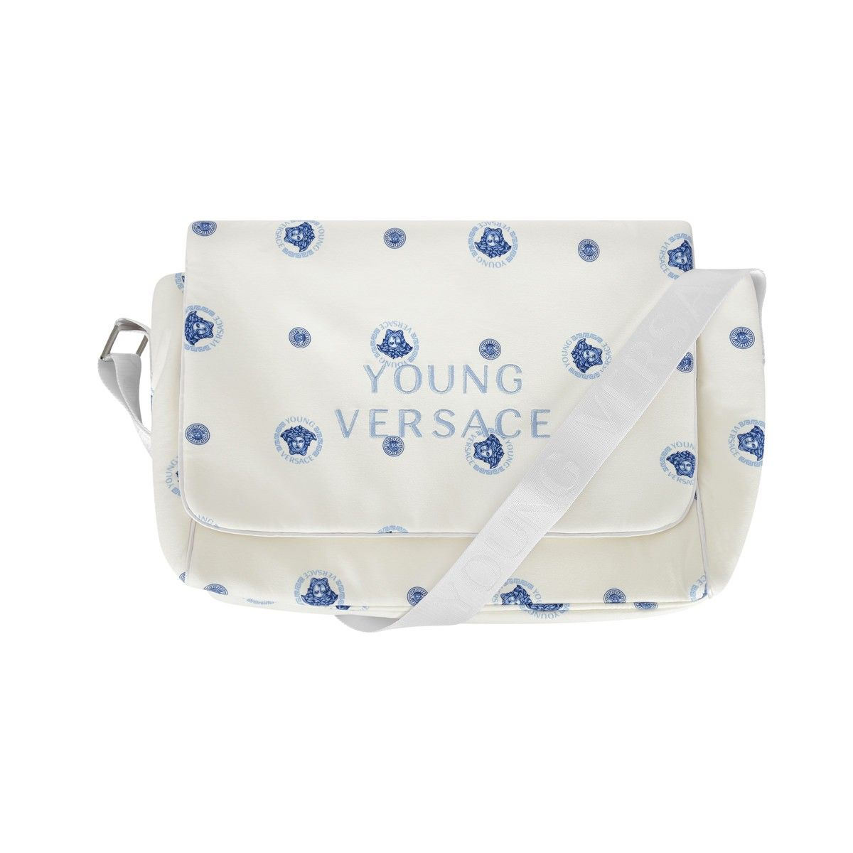 989d1f361c35 Young Versace Boys White   Blue Medusa Baby Changing Bag
