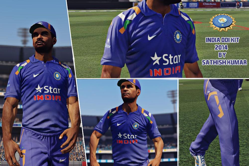 India Odi Kit 2014 For Don Bradman Cricket 14 Download Now Www A2studios Org