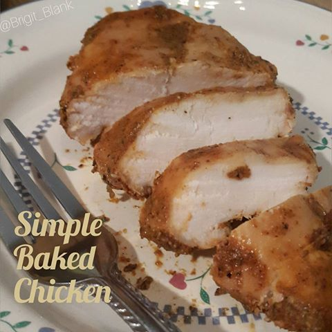 This is SO easy to make and tastes DELICIOUS!!!!   - 4 large boneless, skinless chicken breasts - Olive oil cooking spray, or 2 teaspoons o...