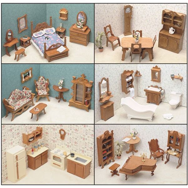 Assembly Required Furniture greenleaf doll houses 6 room furniture set (assembly required
