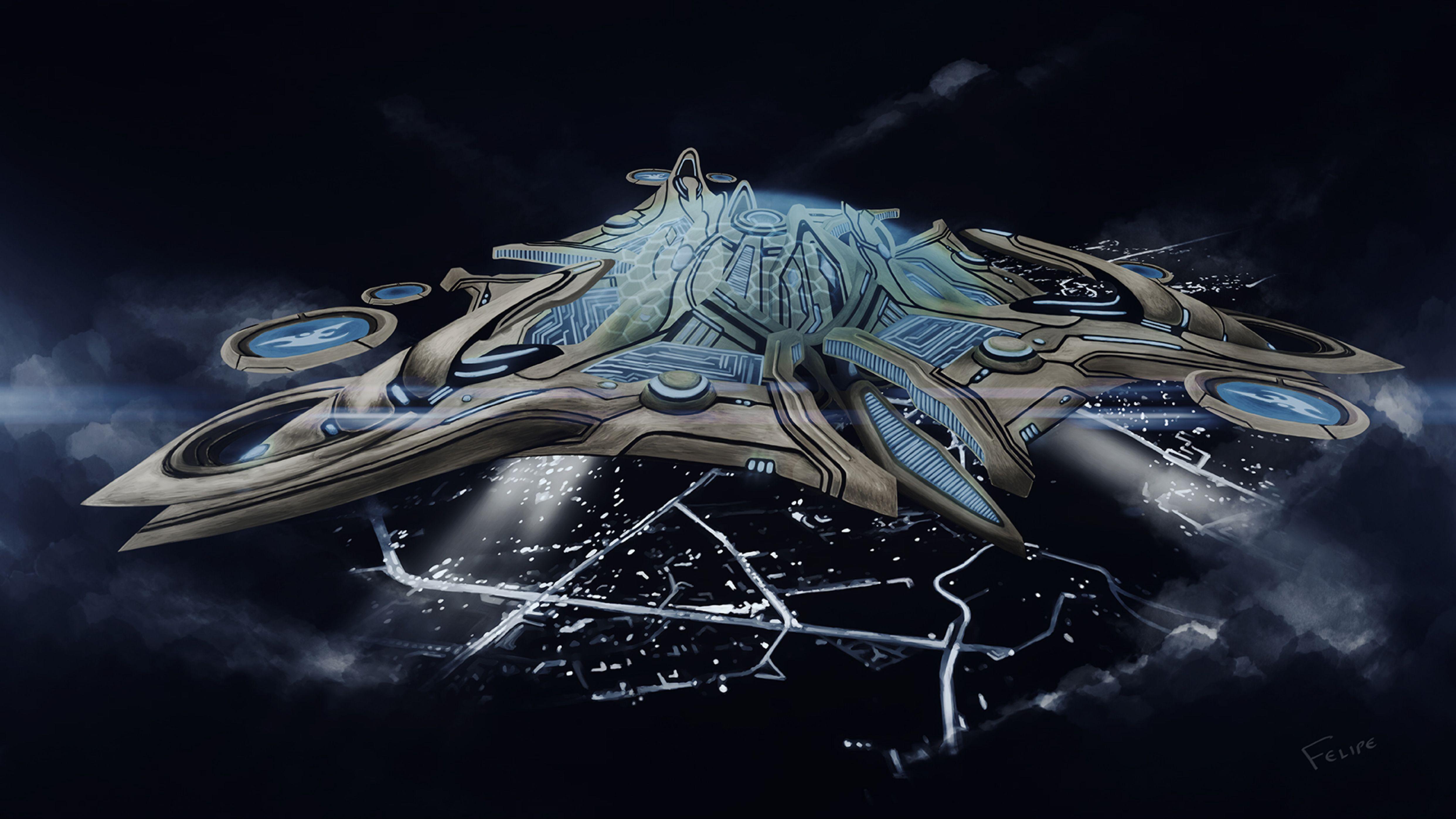 protoss mothership by felipevzsouza on deviantart art ships and