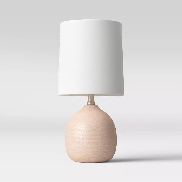 Textured Ceramic Mini Accent Lamp Pink Threshold In 2020 Mini
