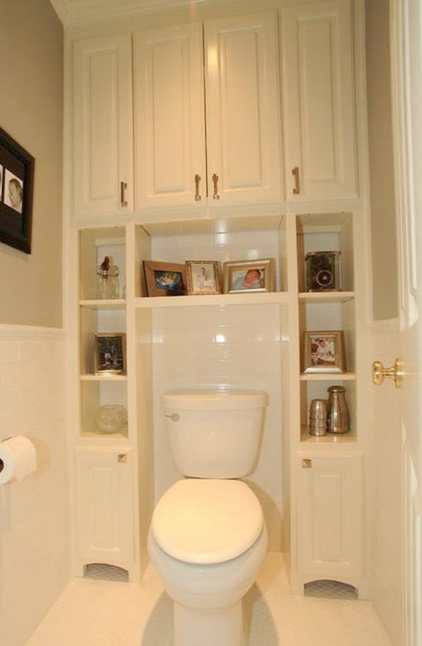 Bathroom Organization Shelves Storage Next To Toilet