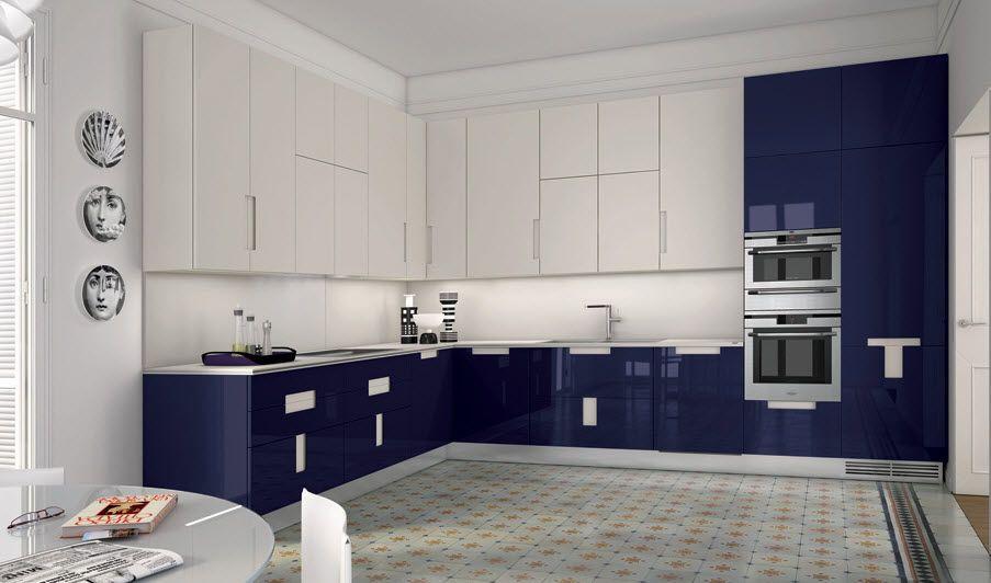 Azul y blanaca | Cocinas en Dos Colores | Pinterest | Azul, Cocina ...