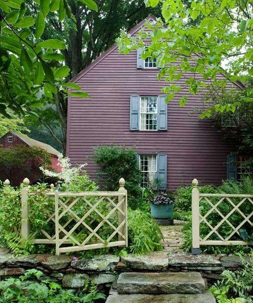Clapboard Saltbox Styled Farmhouse