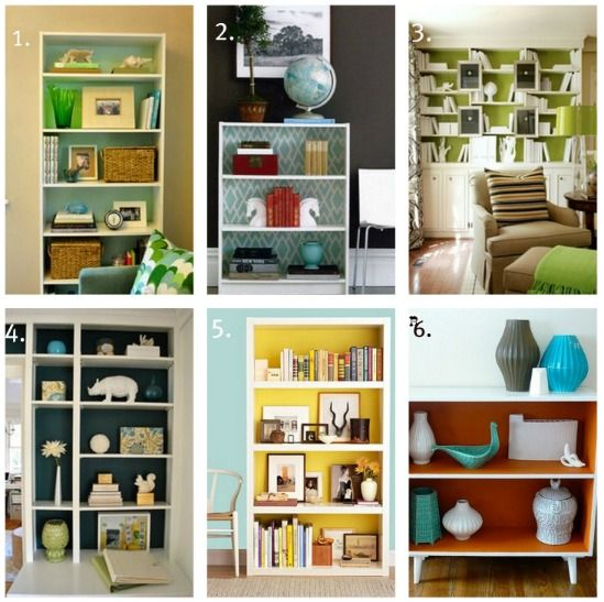 Painted Bookcases I Love This What A Great Way To Add Color