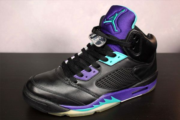 64725eef077b8 Jordan 5 Black   Grape customs