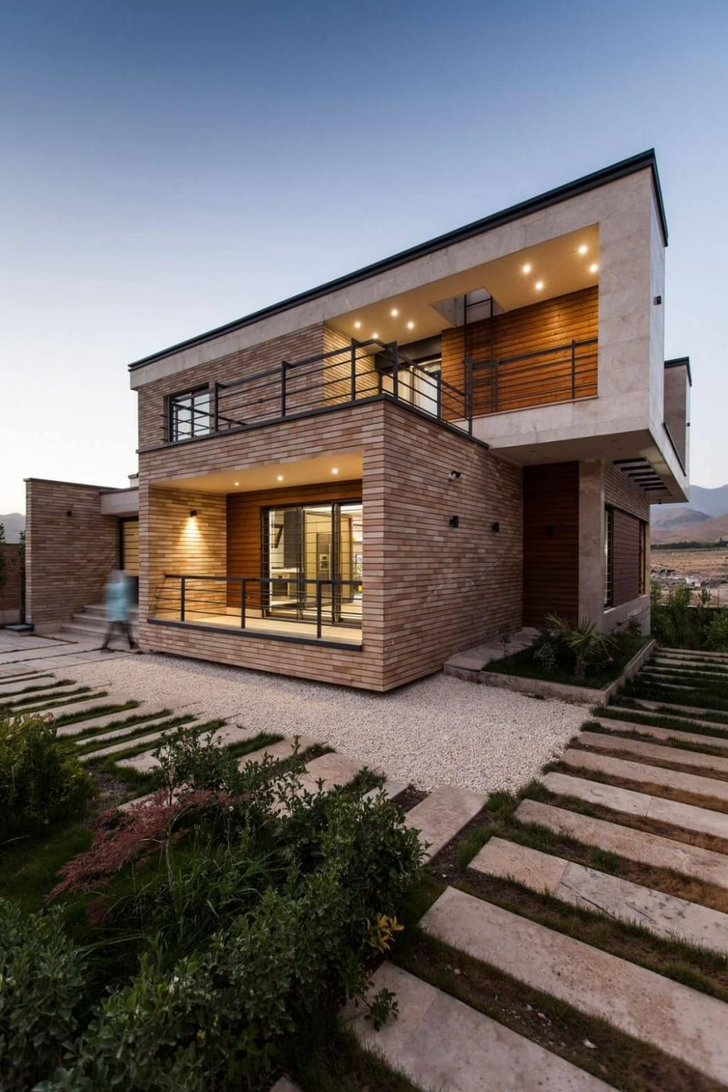 Modern Cube House Three Storey House In Iran By White Cube Atelier
