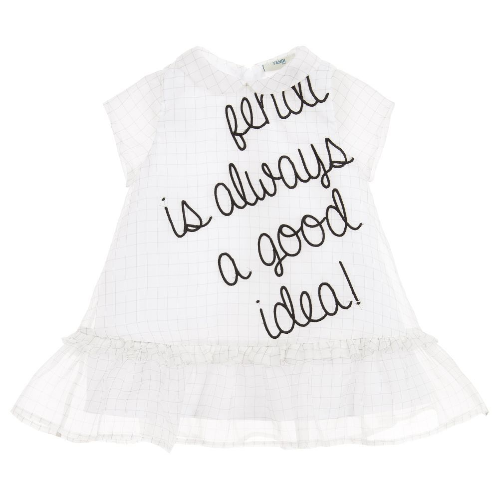 Baby girls silk dress set for girl by fendi discover more beautiful