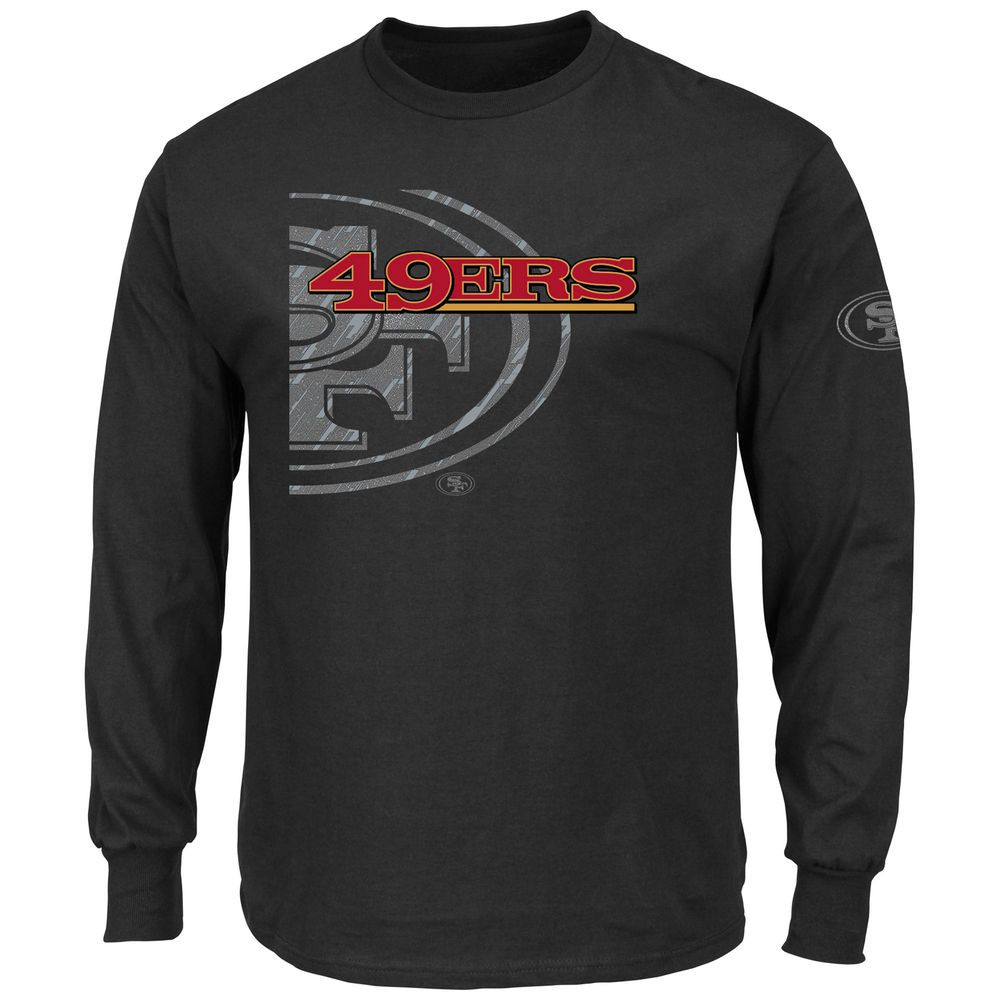 5ff78414 Men's Majestic Black San Francisco 49ers Elite Reflective Long ...